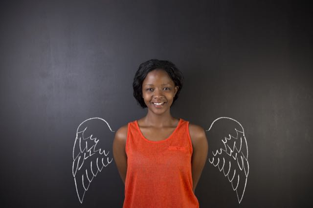 south-african-or-african-american-woman-teacher-or-student-angel-with-chalk-wings