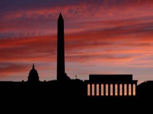 washington-dc-skyline-at-sunset-with-beautiful-sky-illustration