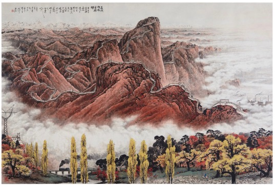 painting-of-mountains