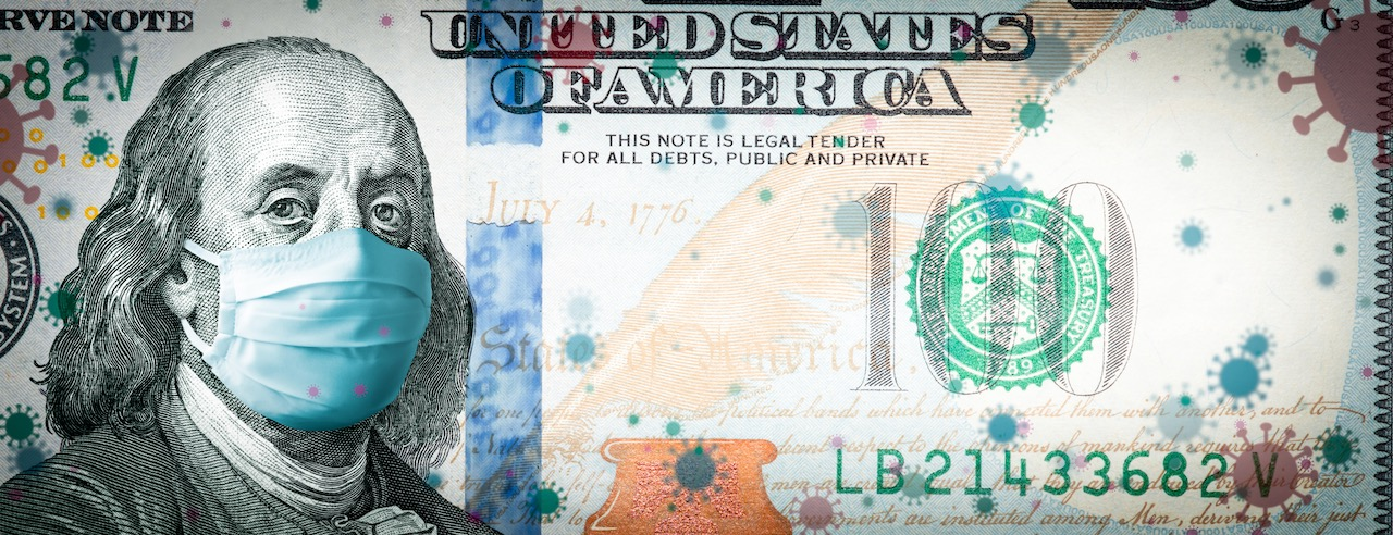 coronavirus-in-usa---benjamin-franklin-with-face-mask-on-covid-19-virus-background---corona-virus-affects-usa-and-global-stock-market-concept